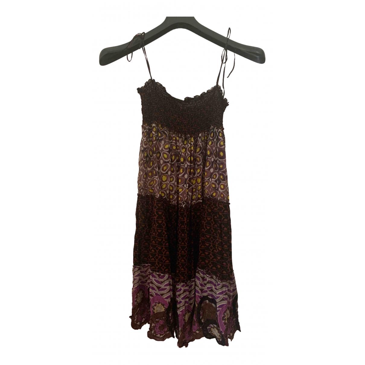 Emamo - Jupe   pour femme en coton - marron