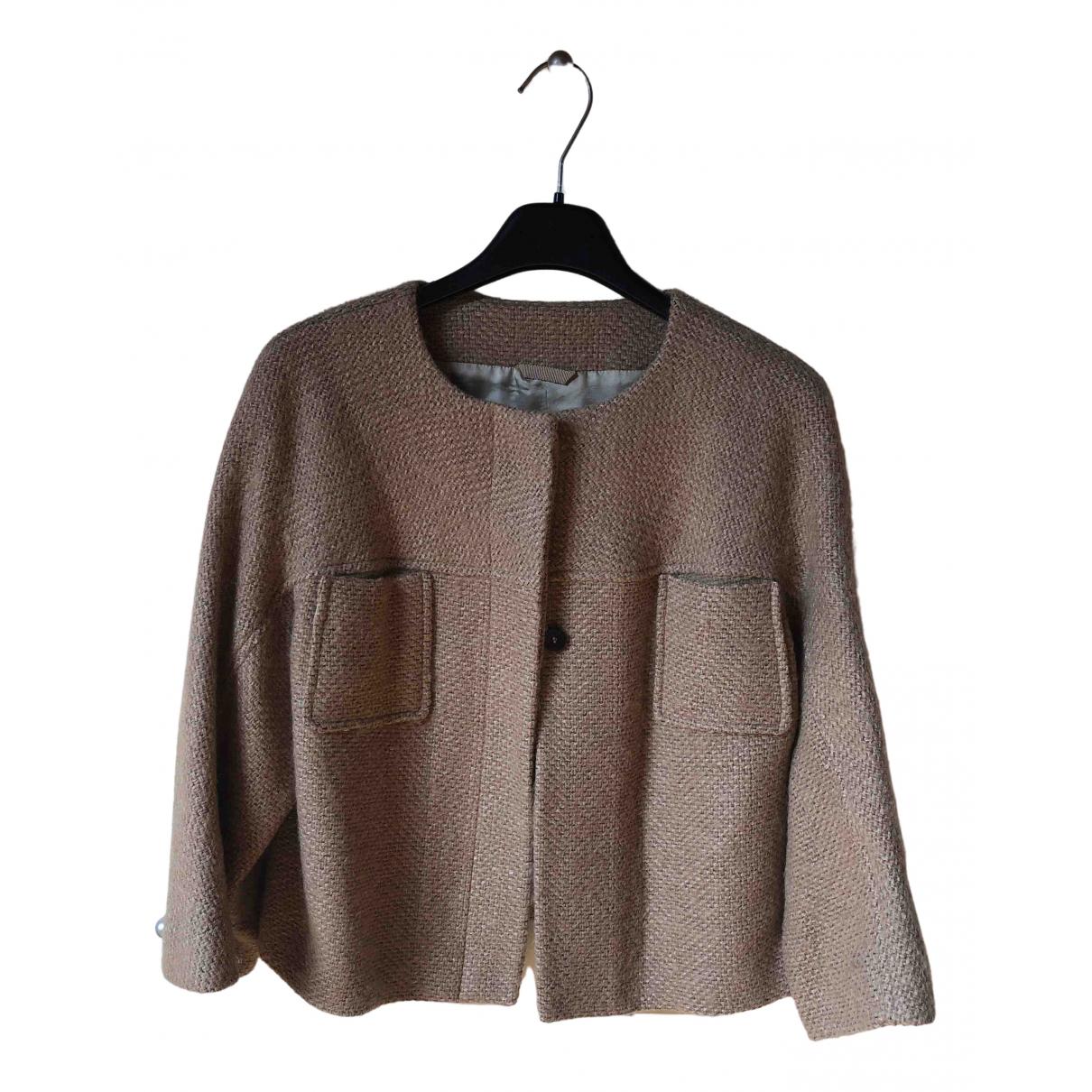 Tonello - Veste   pour femme en laine - beige