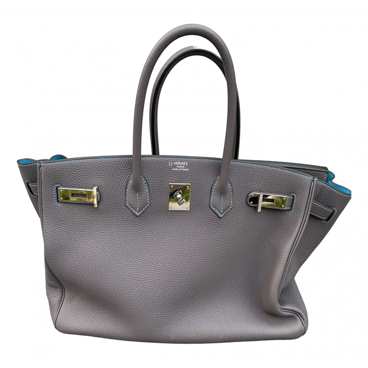 Hermès Birkin 35 Grey Leather handbag for Women N