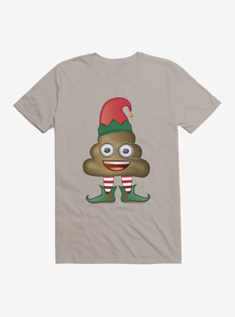 Emoji Holiday Icons Poop Elf T-Shirt