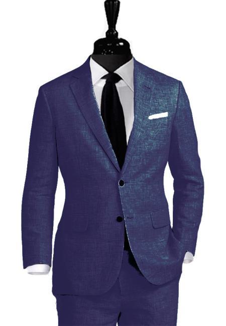 Alberto Nardoni Linen Coming September/1/2017 Notch Lapel Suit