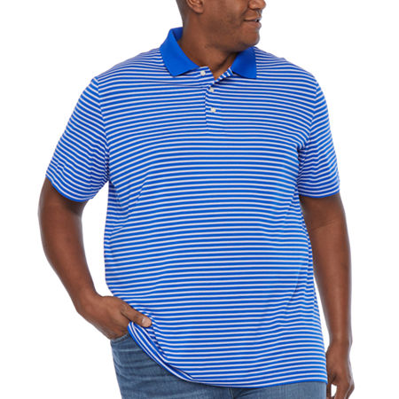 The Foundry Big & Tall Supply Co. Big and Tall Mens Short Sleeve Polo Shirt, 2x-large Tall , Blue