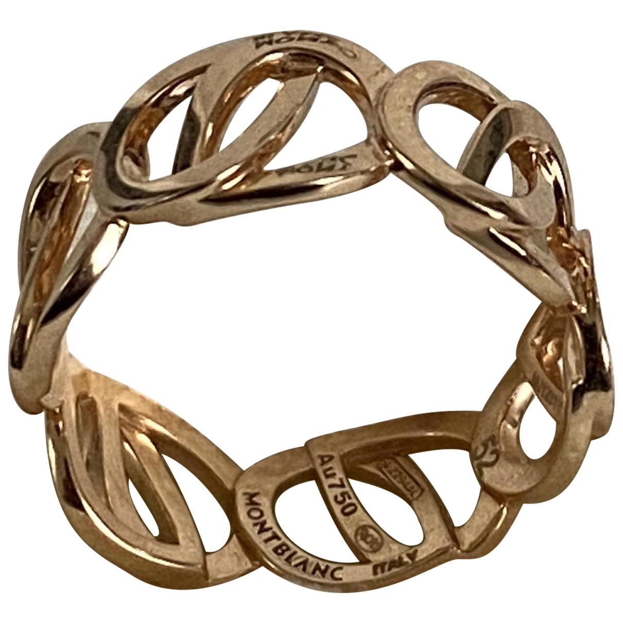 Montblanc - Bague   pour femme en or rose - dore