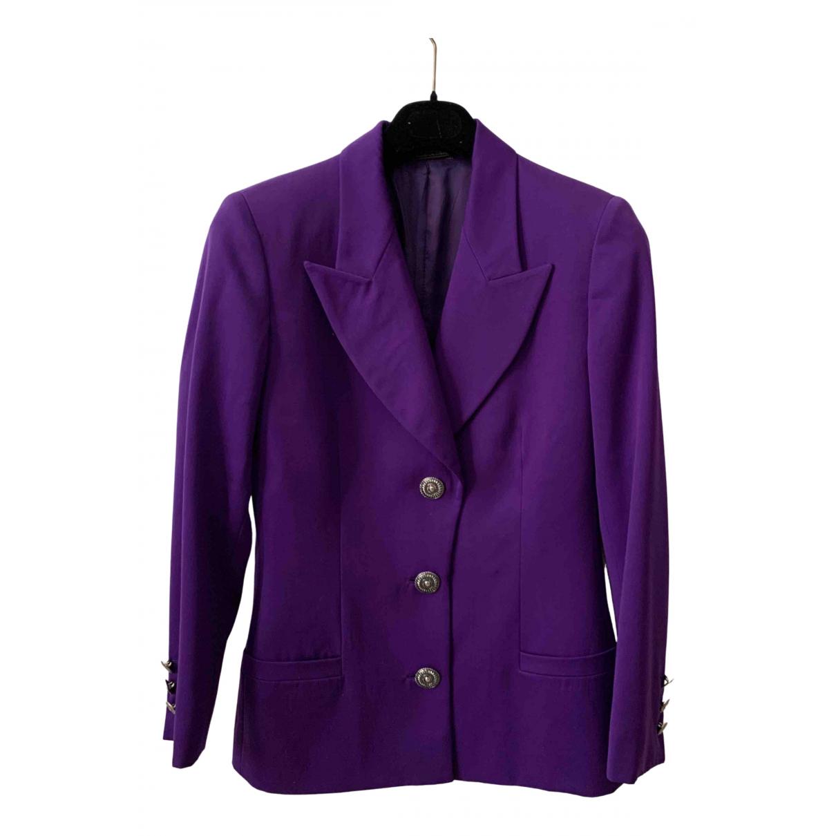 Istante - Veste   pour femme en laine - violet