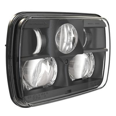 JW Speaker Model 8900 Evolution 2 LED Headlights (Black Inner Bezel) - 0554491