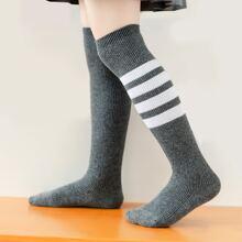 Toddler Girls Striped Over The Knee Socks