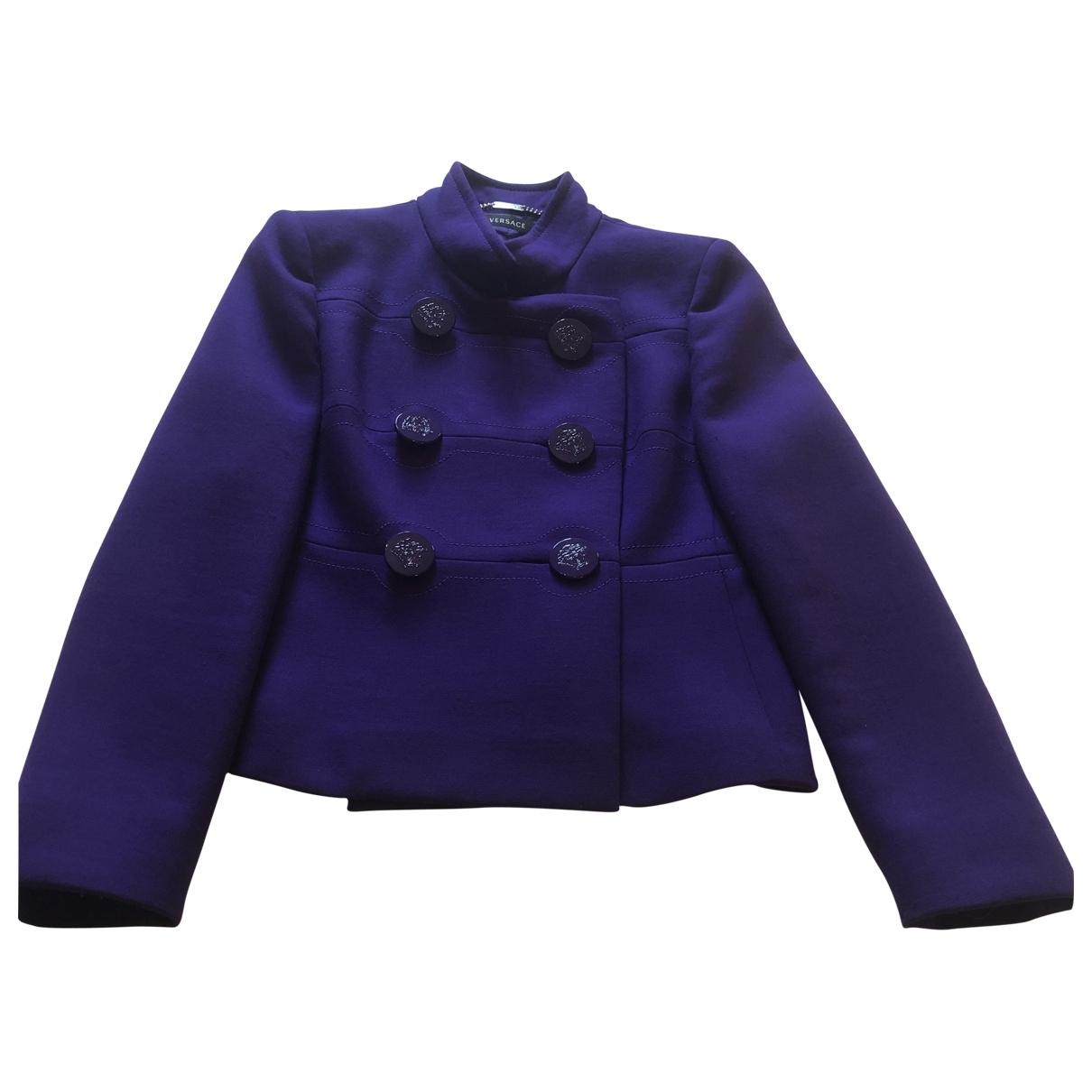 Versace - Veste   pour femme en laine - violet