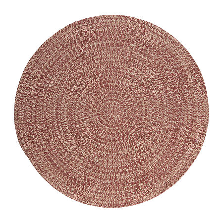 Colonial Mills American Tweed Braided Round Reversible Indoor Rugs, One Size , Red