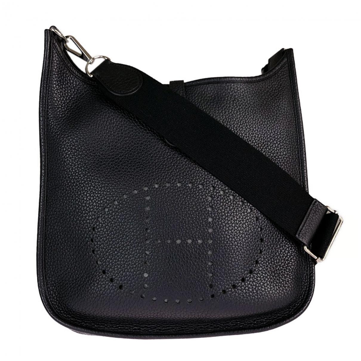 Hermes Evelyne Handtasche in  Schwarz Leder
