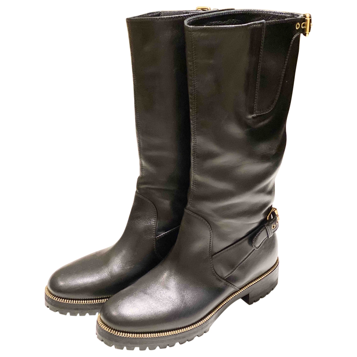 Sergio Rossi \N Black Leather Boots for Women 36 EU