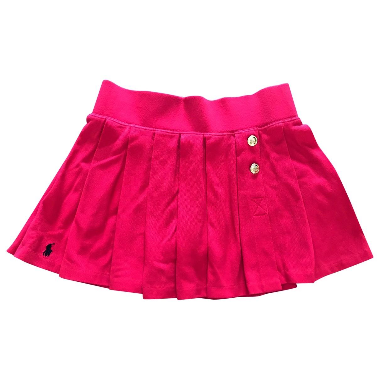 Polo Ralph Lauren - Jupe   pour enfant en coton - rouge