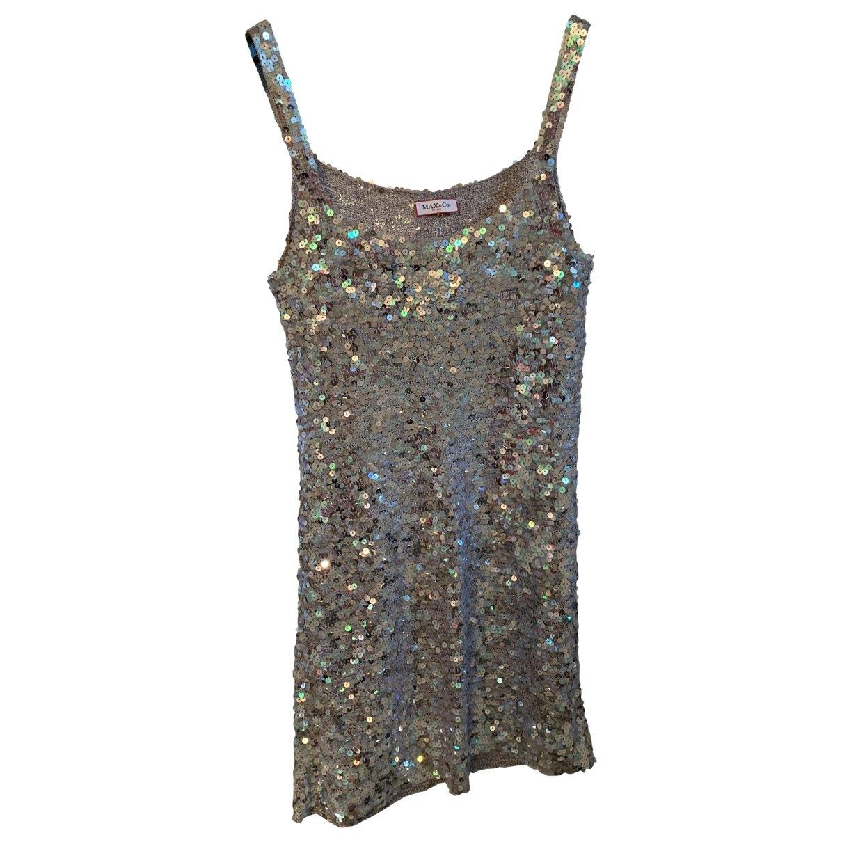 Max & Co \N Kleid in  Silber Mit Pailletten