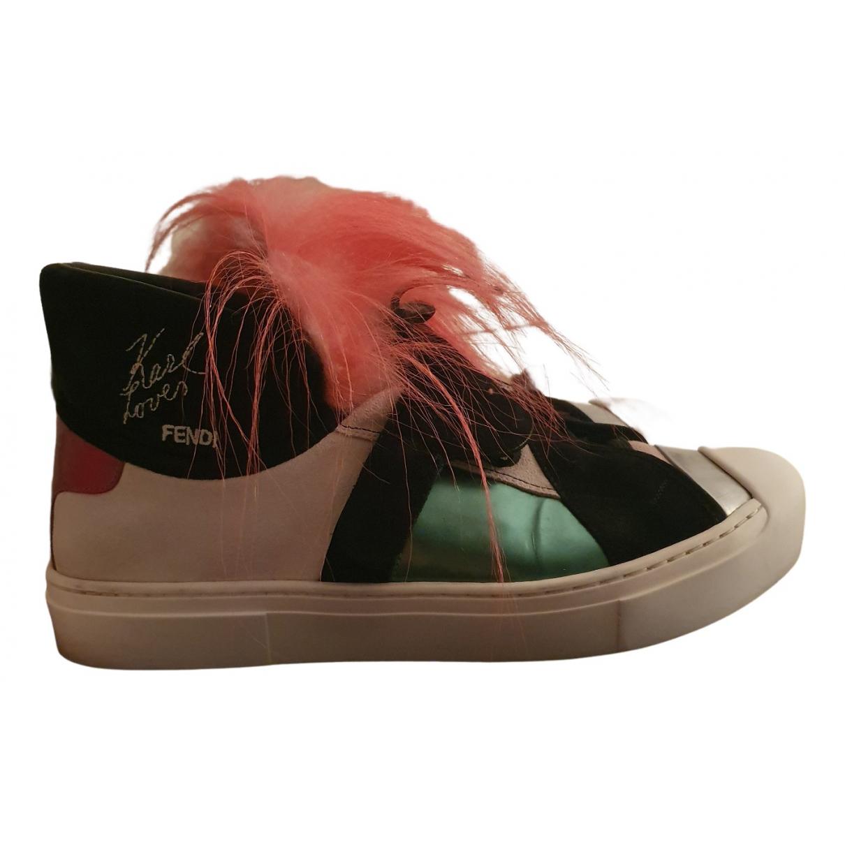 Fendi \N Sneakers in  Bunt Leder