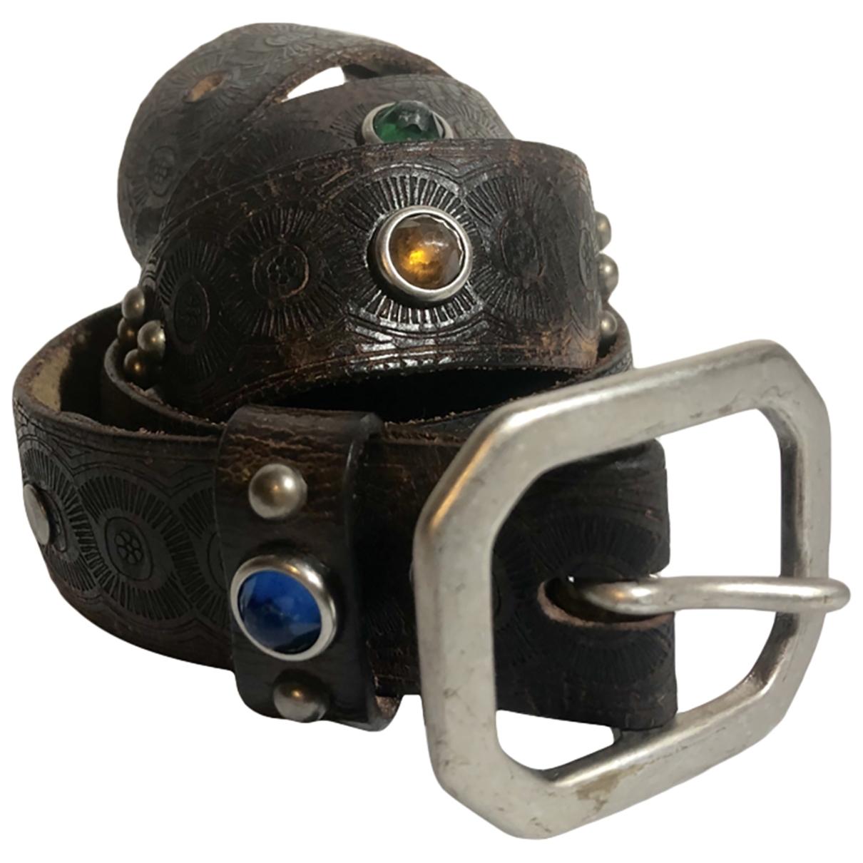 Cinturon de Cuero Ralph Lauren Double Rl