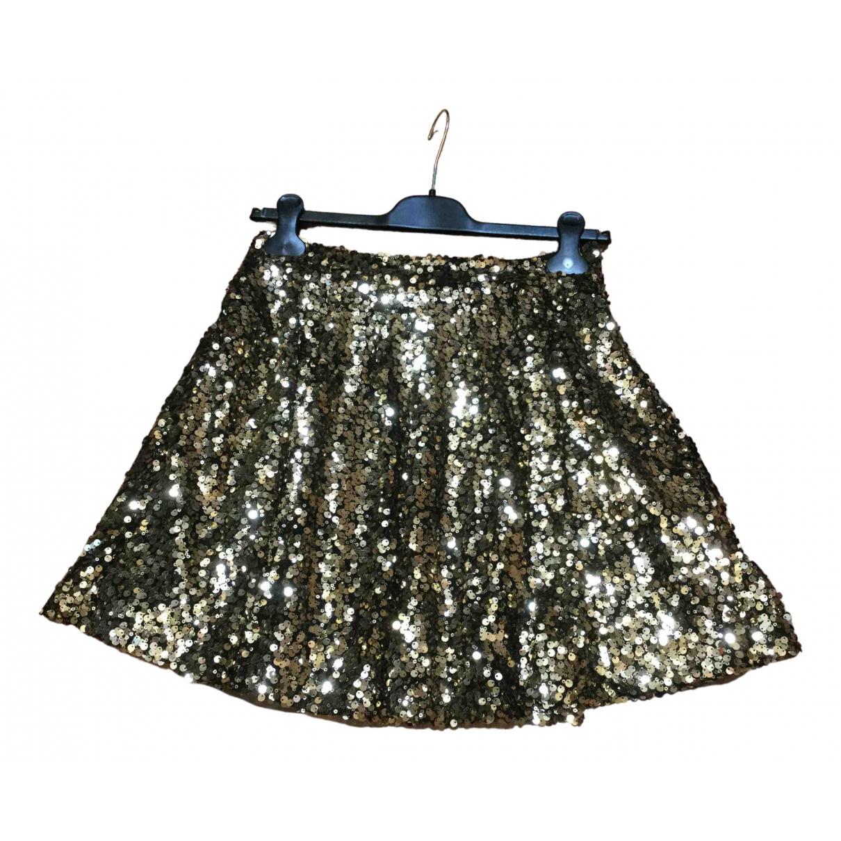 Non Signé / Unsigned \N Gold Glitter skirt for Women M International