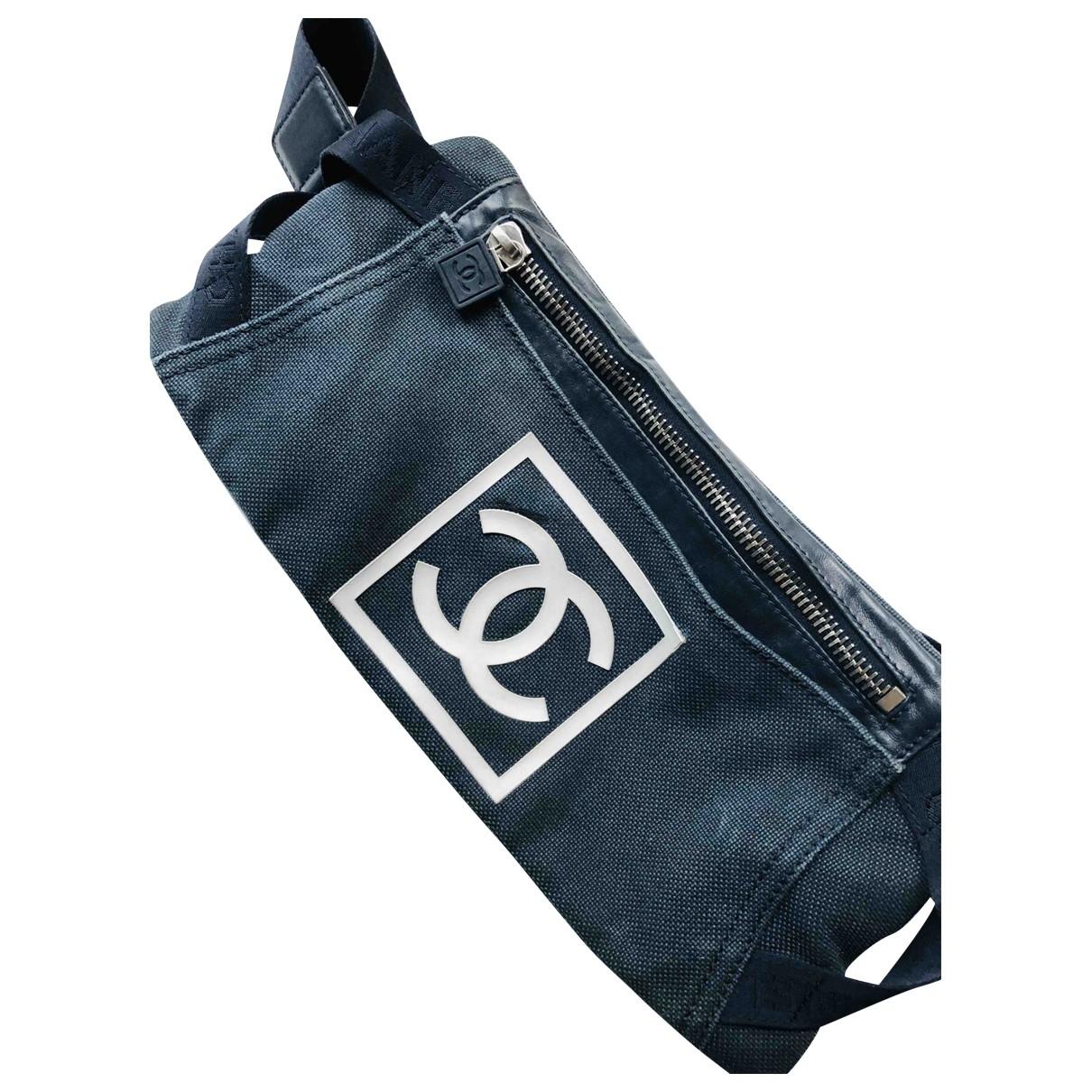 Chanel - Pochette   pour femme en toile - bleu