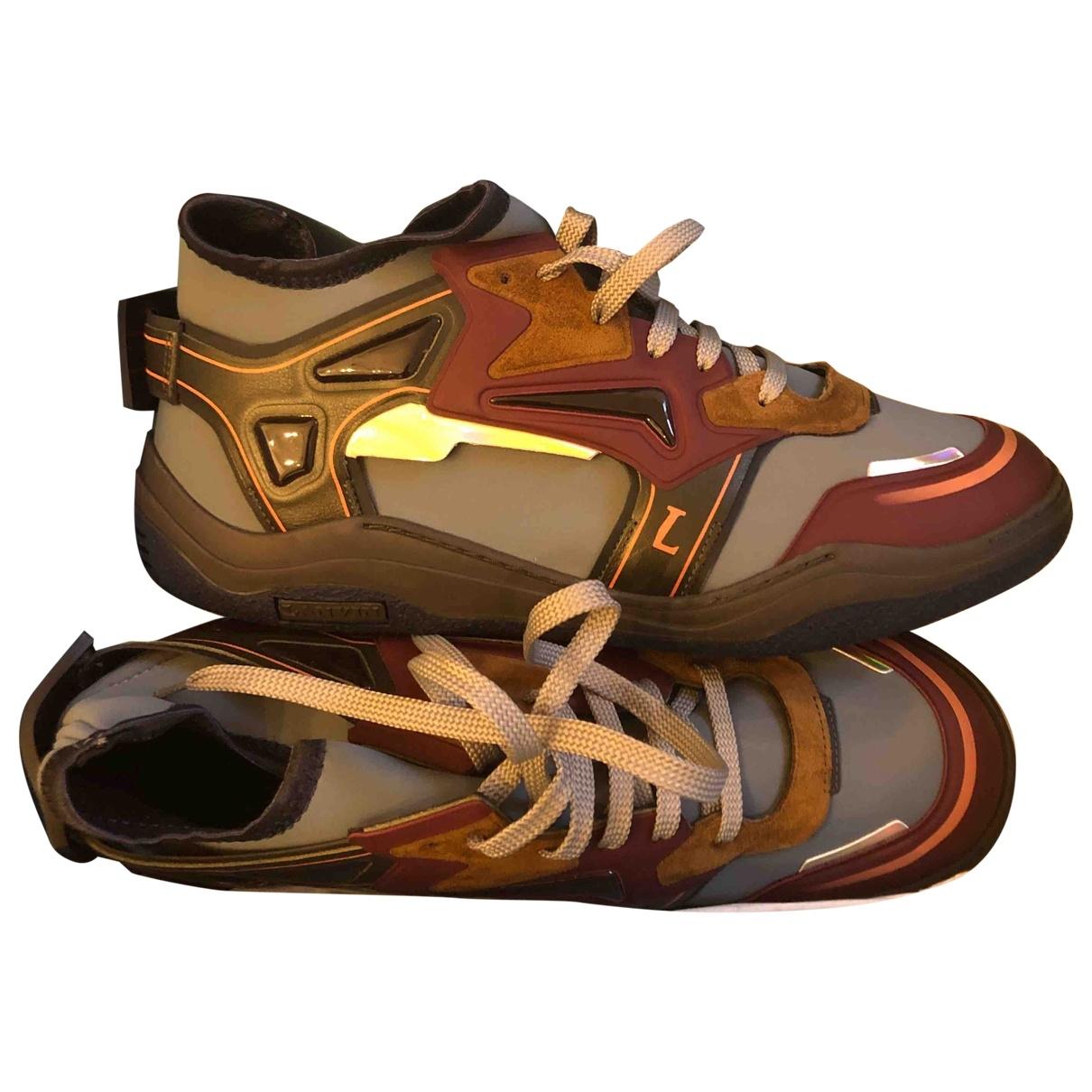 Lanvin \N Sneakers in  Blau Kautschuk