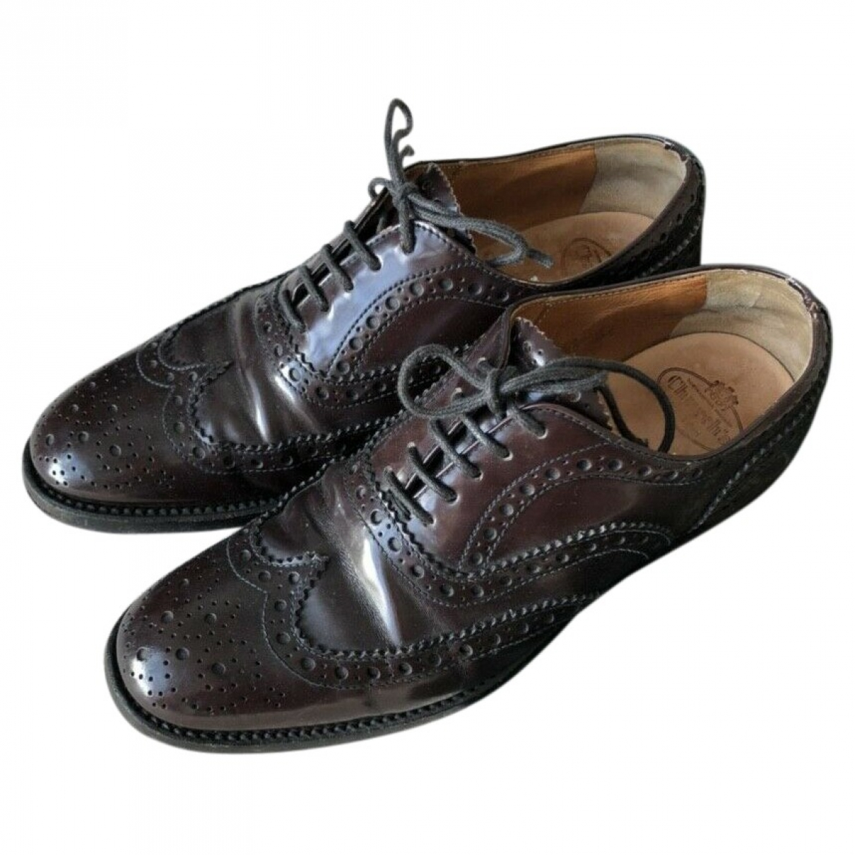 Church's \N Burgundy Leather Lace ups for Women 3 UK