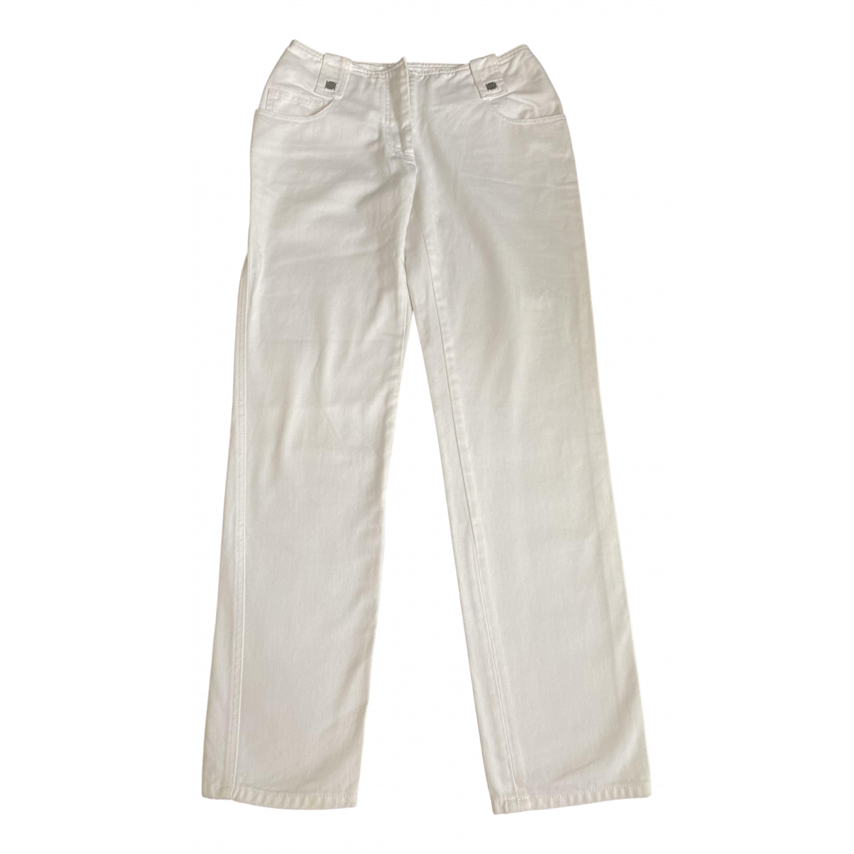 Chanel \N White Cotton Jeans for Women 40 FR