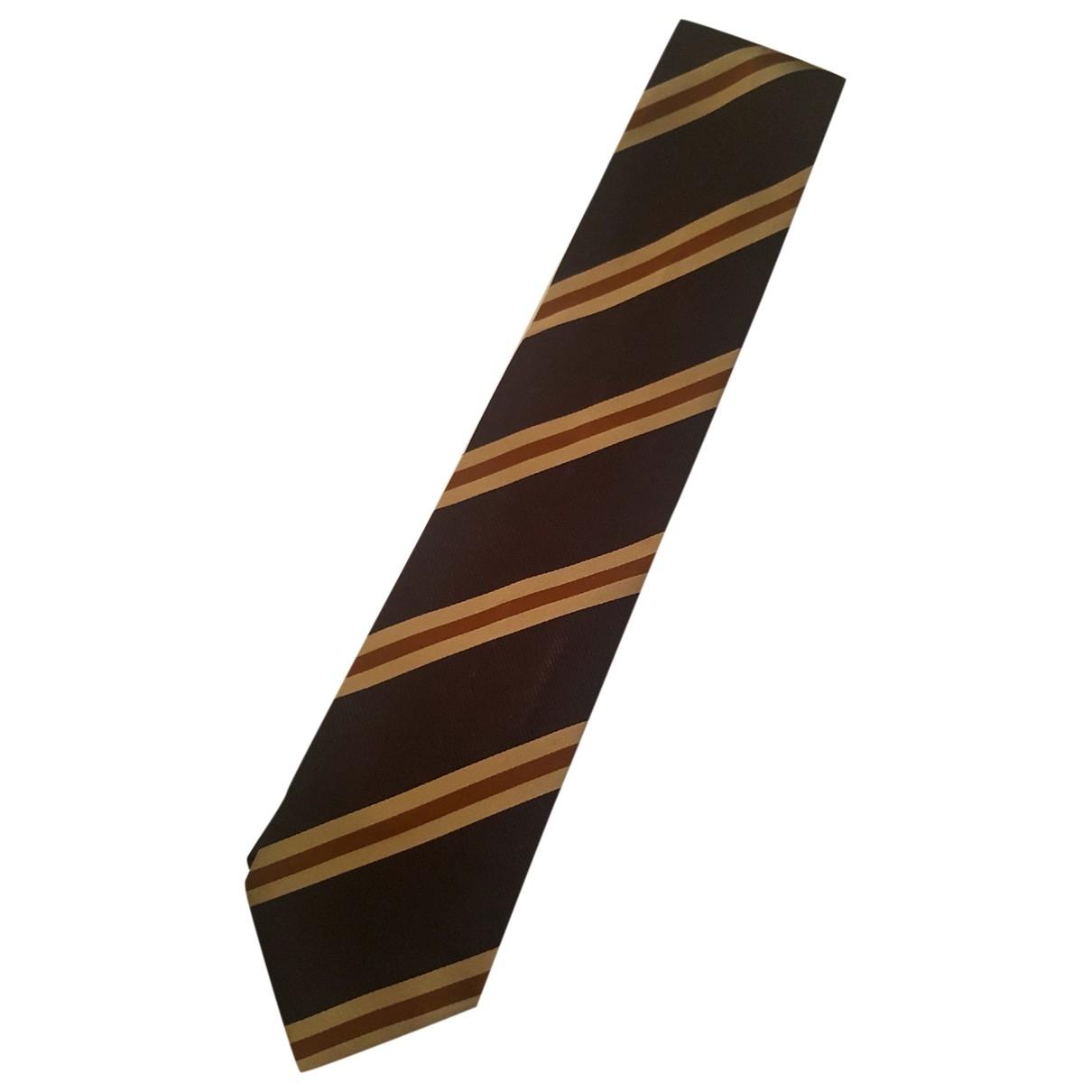 Ermenegildo Zegna \N Brown Silk Ties for Men \N