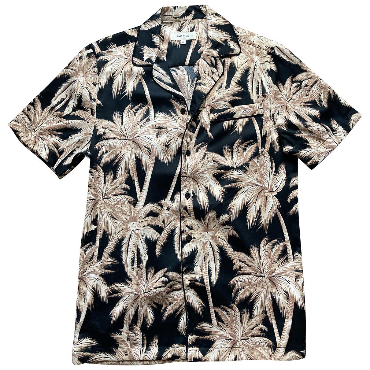 River Island N Black Shirts for Men XS International