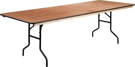 XA-3696-P-GG 36'' x 96'' Rectangular Wood Folding Banquet Table with Clear Coated Finished