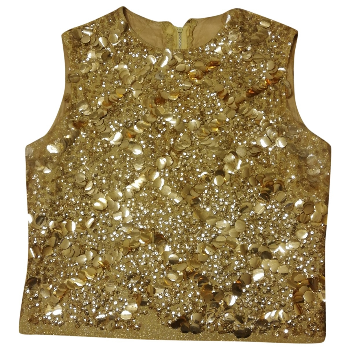 Non Signé / Unsigned Epaulettes Gold  top for Women L International