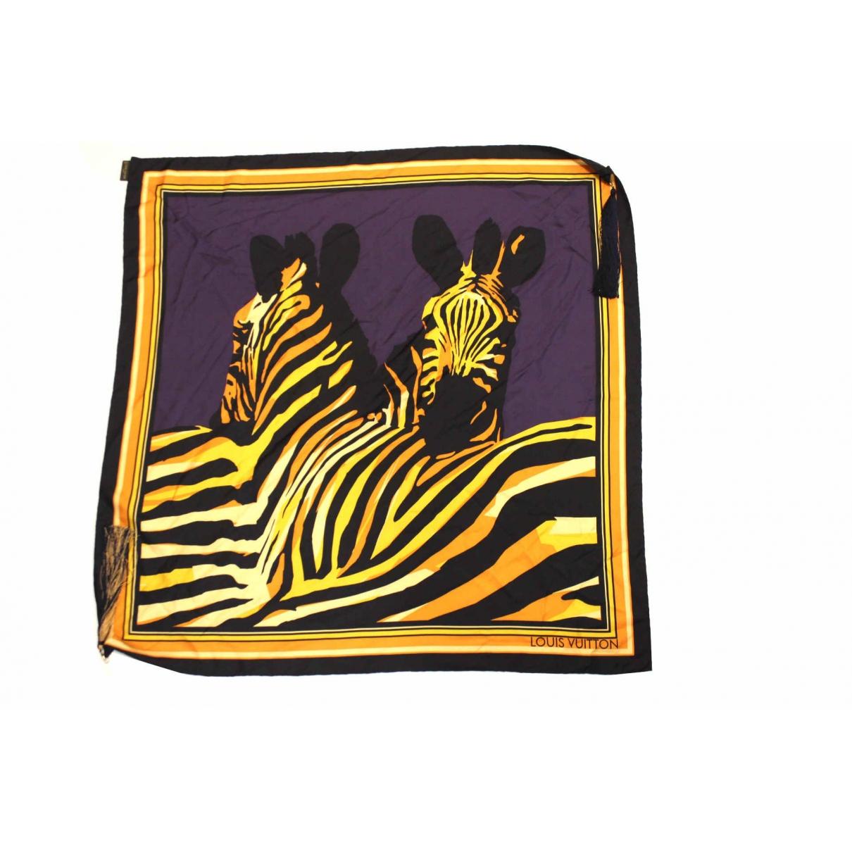 Louis Vuitton - Foulard   pour femme en soie - jaune