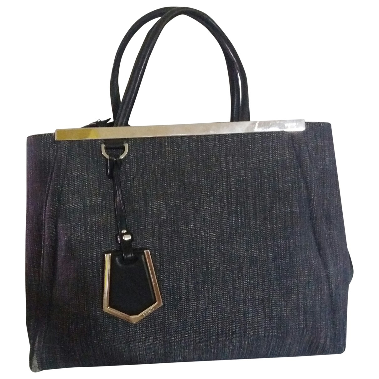 Fendi 3Jours Blue Denim - Jeans handbag for Women \N