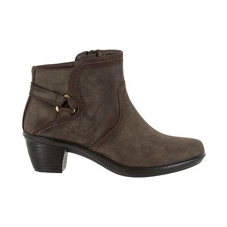 Easy Street Womens Dawnta Booties Block Heel, 6 1/2 Medium, Beige