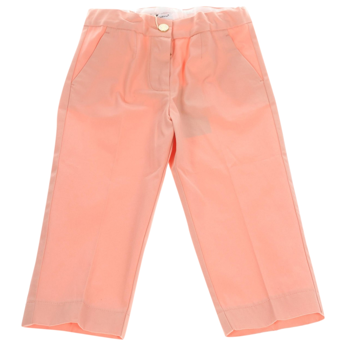 Dolce & Gabbana \N Pink Cotton Trousers for Kids 18 months - until 32 inches UK
