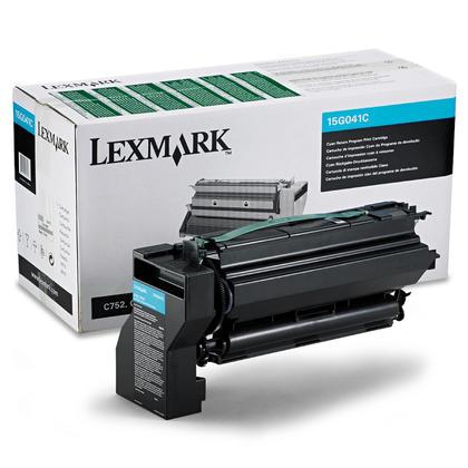 Lexmark 15G041C cartouche de toner du programme retour originale cyan