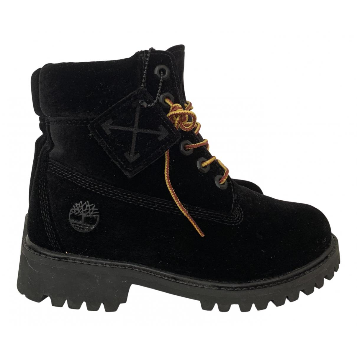 Timberland N Black Cloth Boots for Women 37 EU