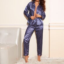 Schlafanzug Set mit Herzen Muster