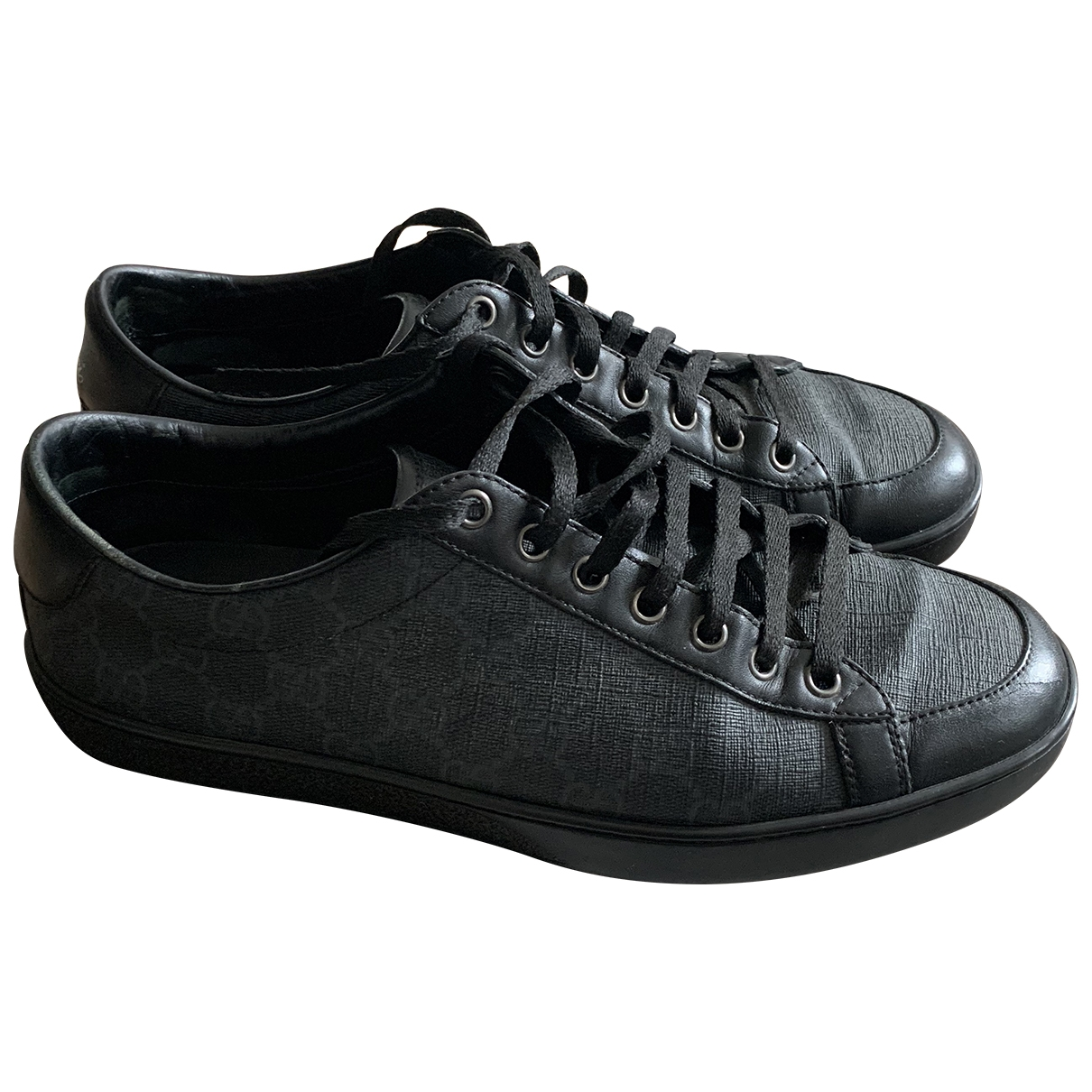 Gucci \N Sneakers in  Anthrazit Leinen