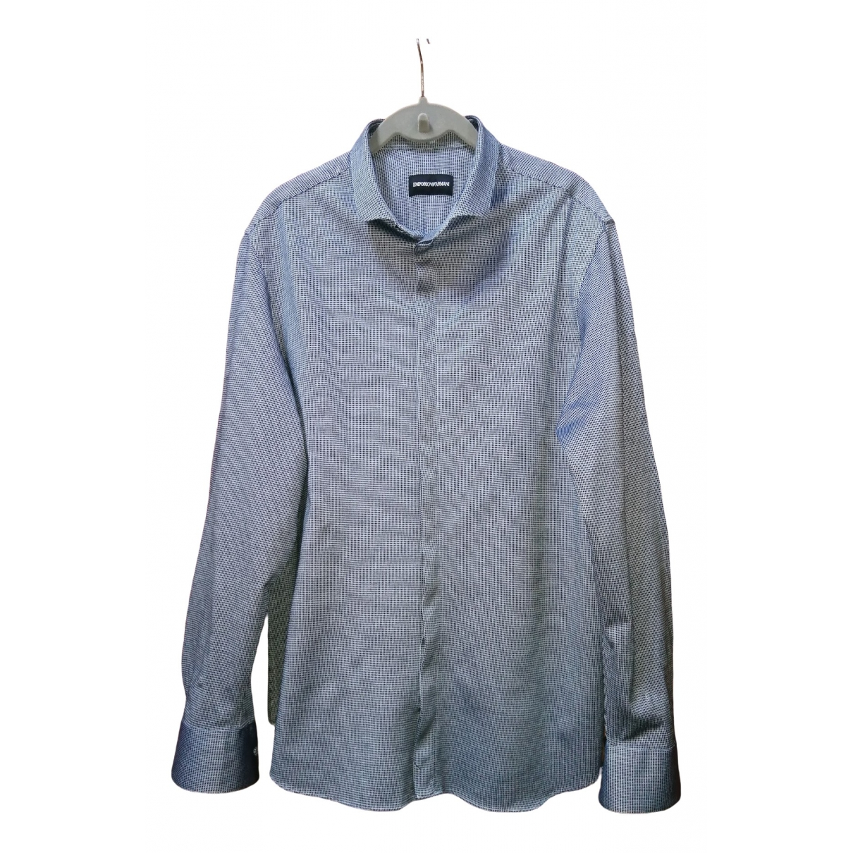 Emporio Armani \N Blue Cotton Shirts for Men L International
