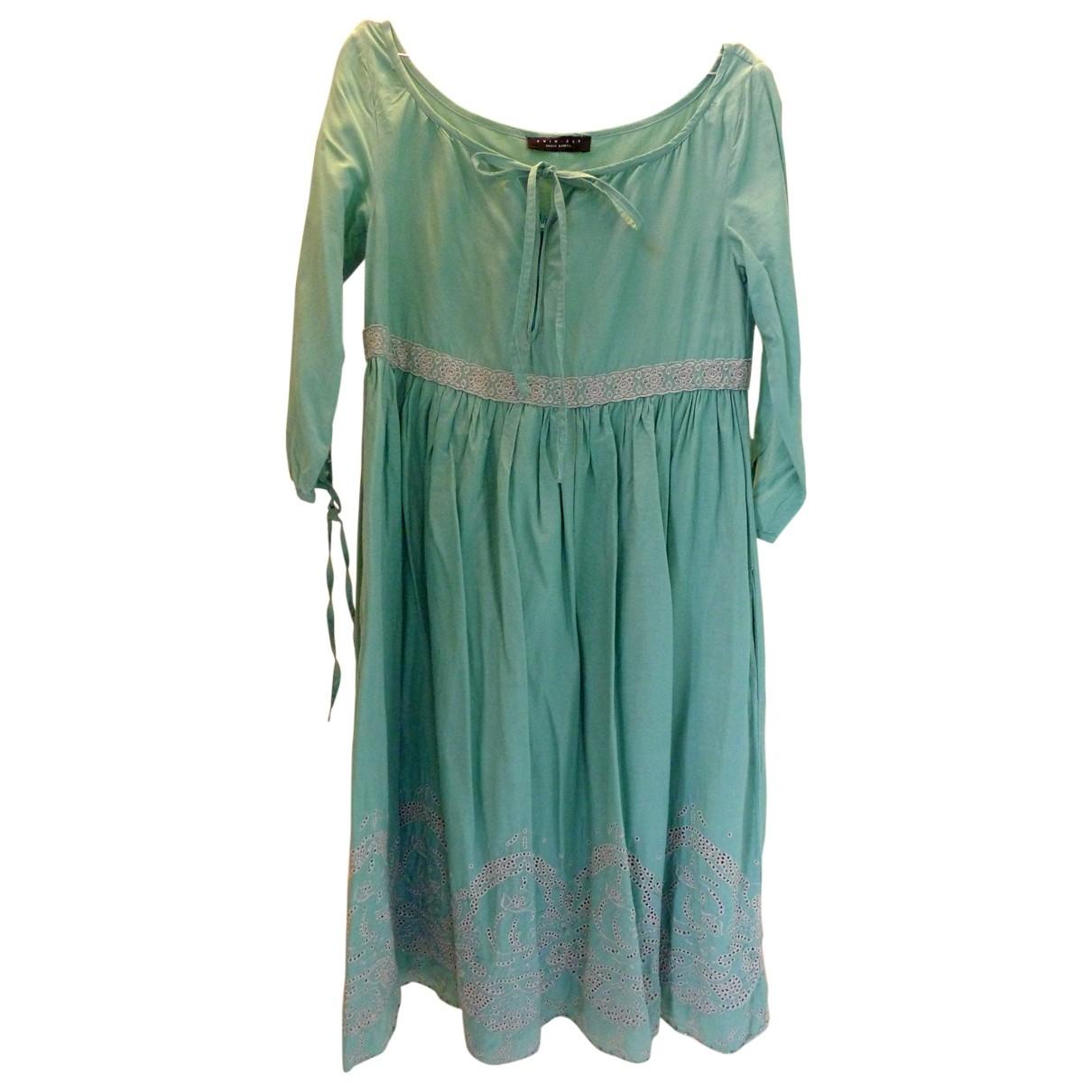 Twin Set \N Turquoise Cotton dress for Women M International
