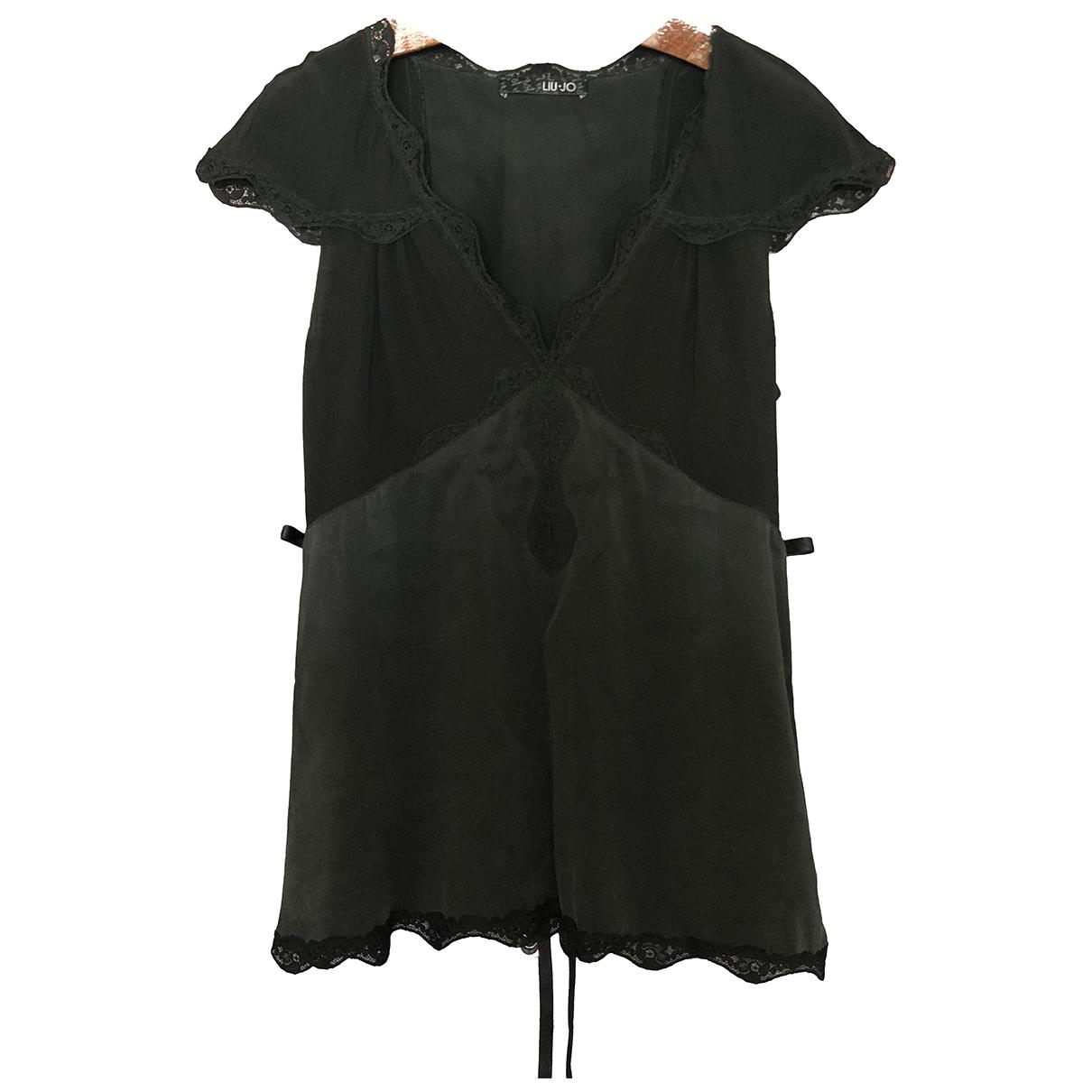 Liu.jo - Top   pour femme en soie - noir
