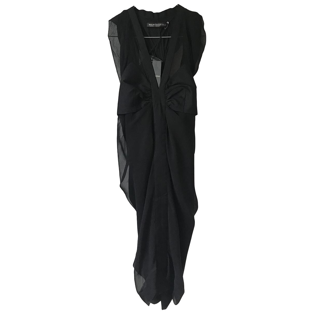 Vestido midi de Seda Balenciaga