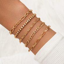 5pcs Chain Bracelet