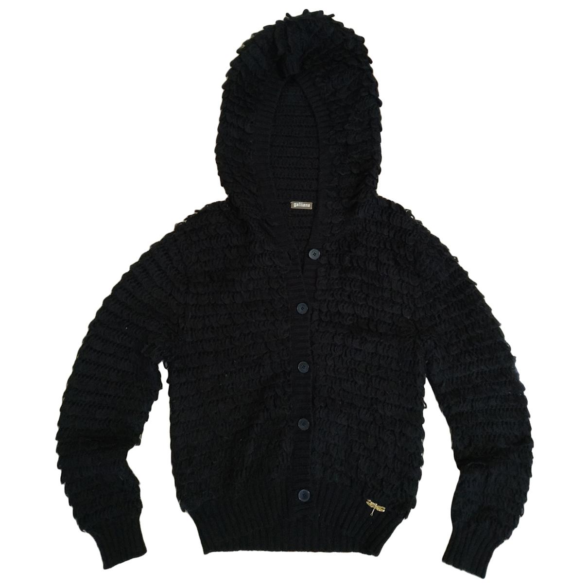 Galliano - Pull   pour femme en laine - noir