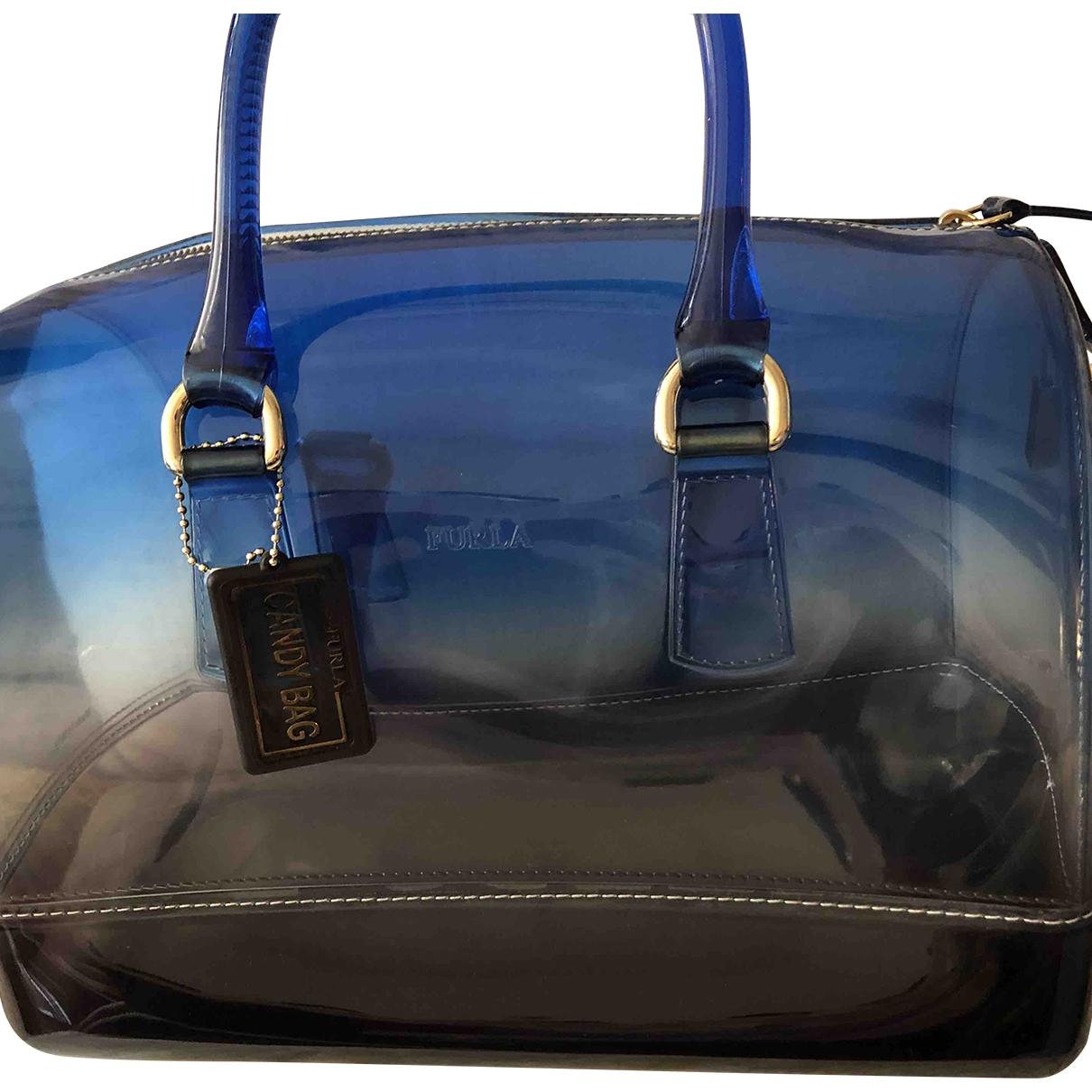 Furla Candy Bag Handtasche in  Blau Kunststoff