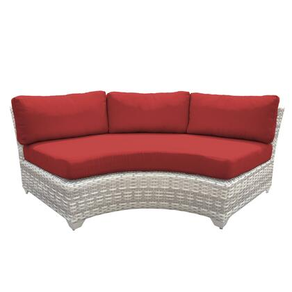 TKC045b-CAS-DB-TERRACOTTA Fairmont Curved Armless Sofa 2 Per Box with 2 Covers: Beige and