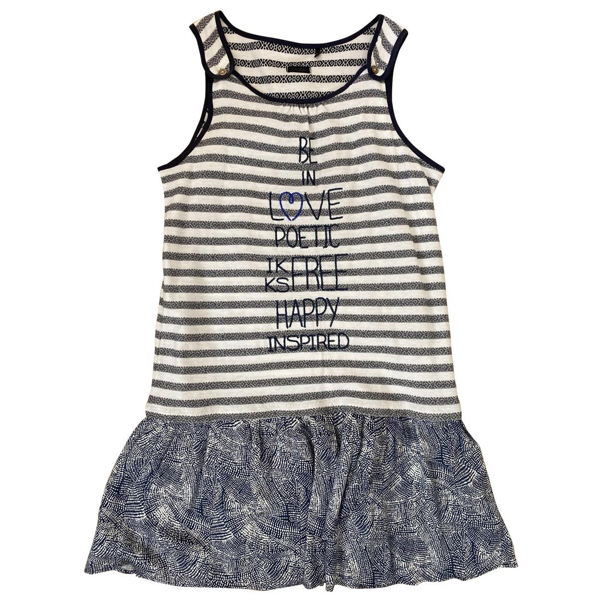 Ikks \N Kleid in  Blau Baumwolle