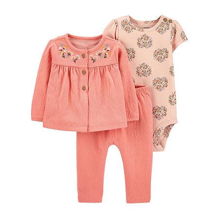 Carter's Baby Girls 3-pc. Clothing Set, 12 Months , Pink