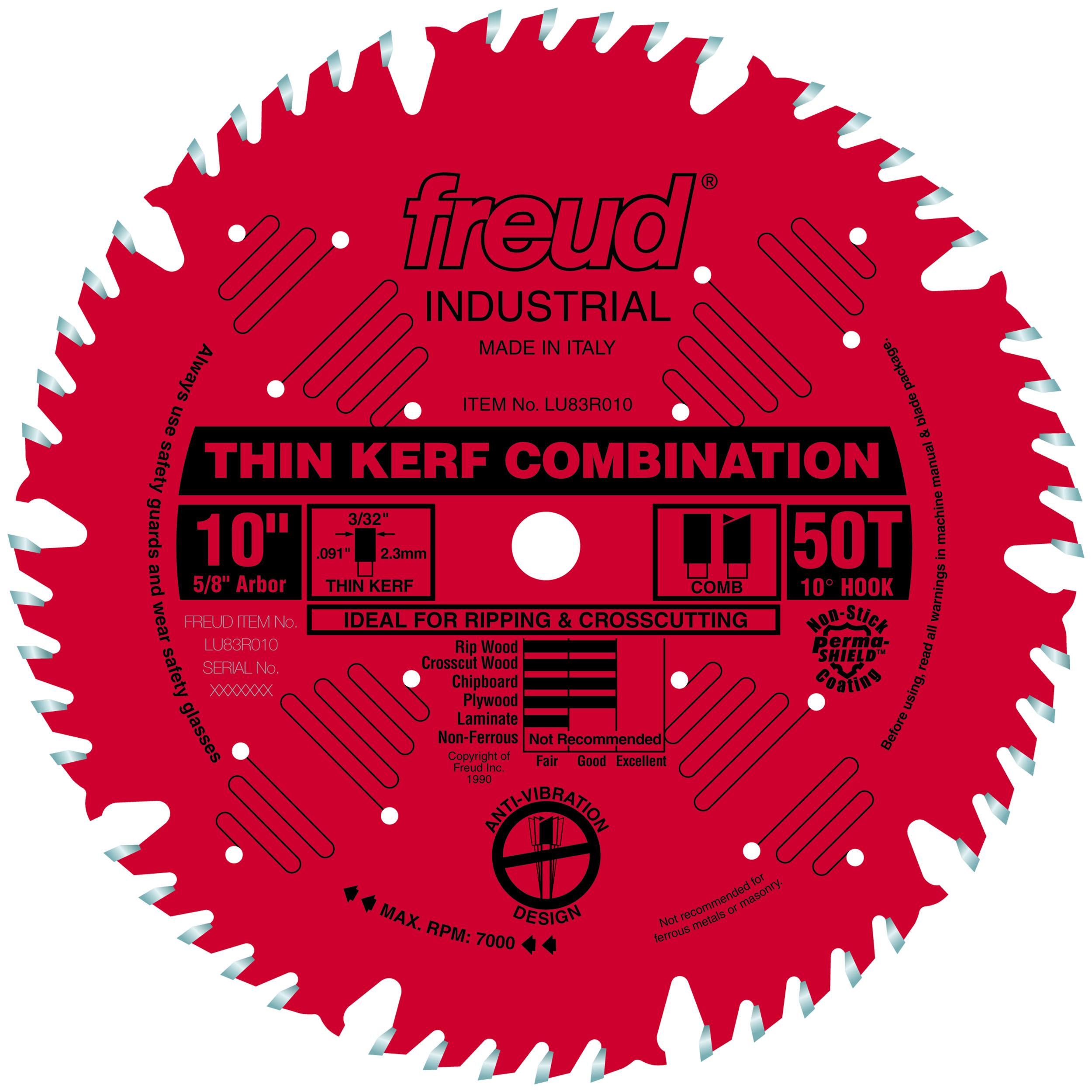 LU83R010 Finish Red Circular Saw Blade 10
