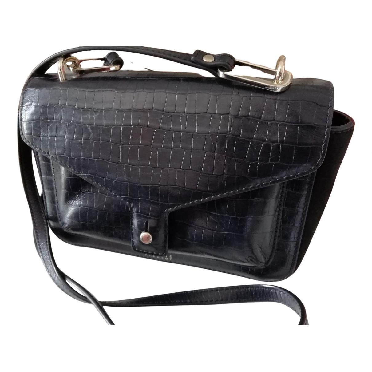 Claudie Pierlot \N Handtasche in  Schwarz Leder