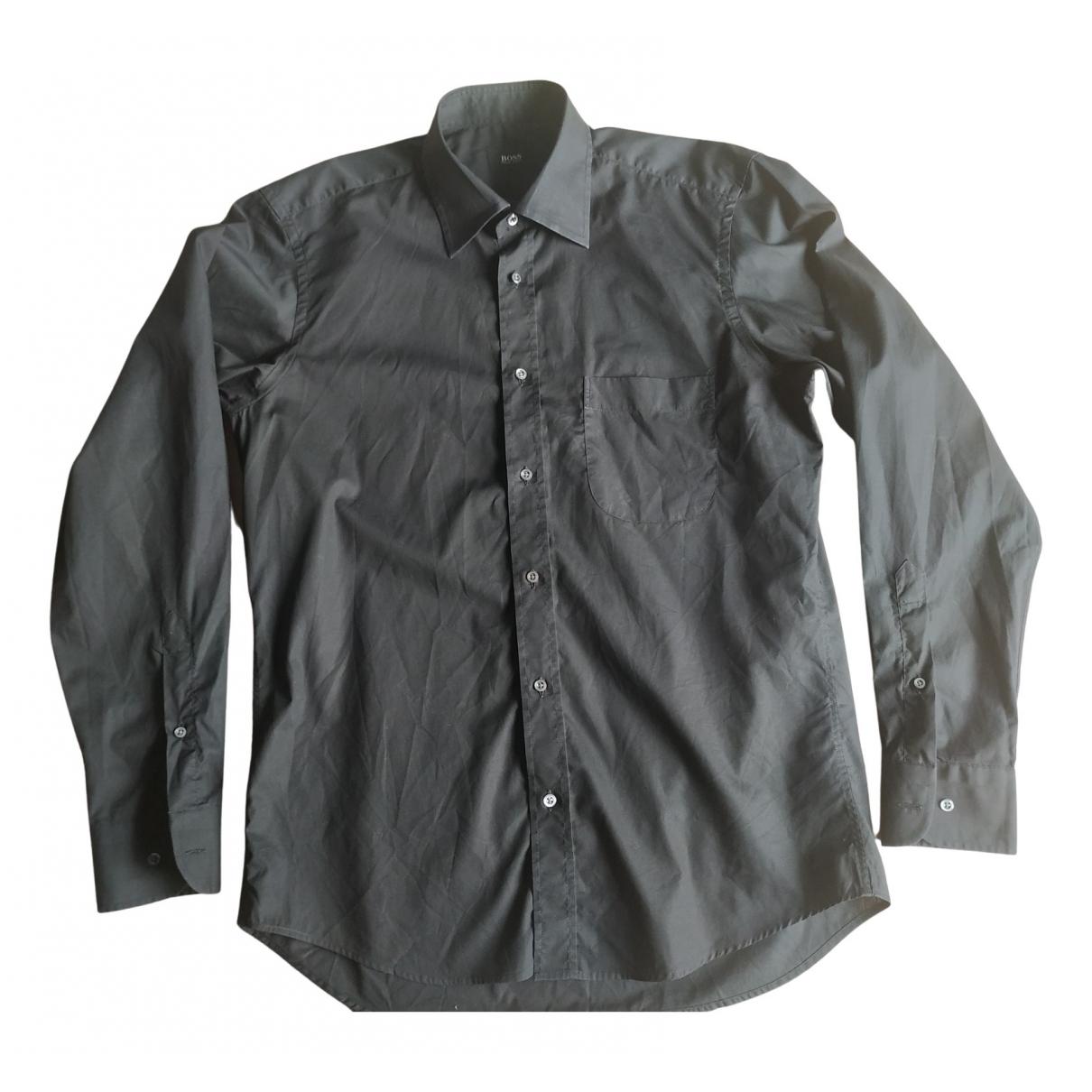 Boss - Chemises   pour homme en coton - noir