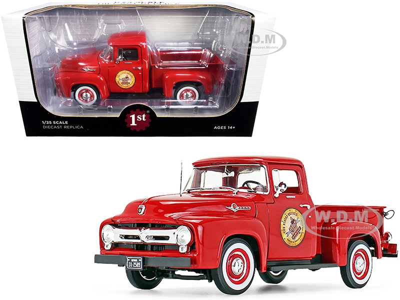 1956 Ford F-100 Pickup Truck Vermillion Red