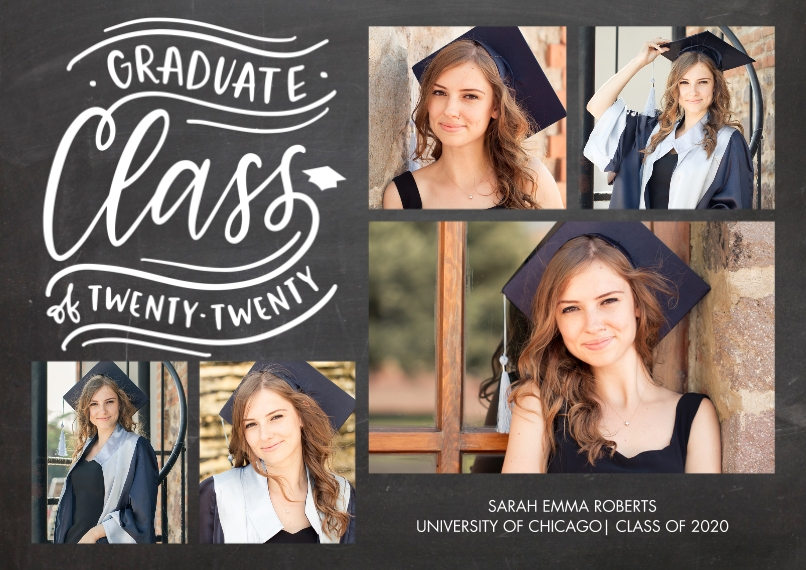 2020 Graduation Announcements 5x7 Cards, Premium Cardstock 120lb with Rounded Corners, Card & Stationery -Graduate 2020 Class by Tumbalina